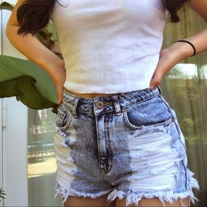 Distressed Pacsun jean shorts!